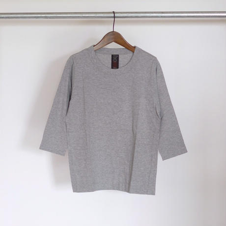 homspun /  天竺七分袖Tシャツ (topグレー)