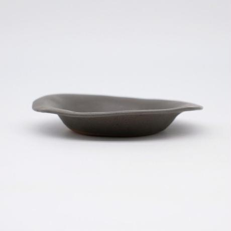 teto ceramic / リムプレート・小・錆鉄釉薬 (実物写真811)