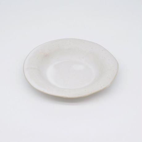 teto ceramic / リムプレート・小・白マット釉薬 (実物写真816)