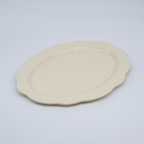 mouhitoaji / フローラルオーバル皿・大 (実物写真117)