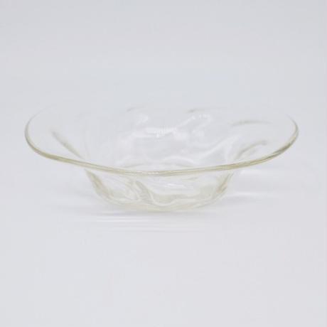 森永 豊 / 高台モールド6寸半皿・透明 (実物写真1132)