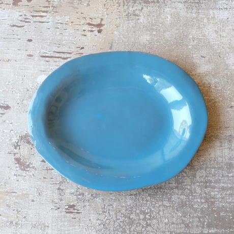 teto ceramic オーバルプレート(モロッコブルー)