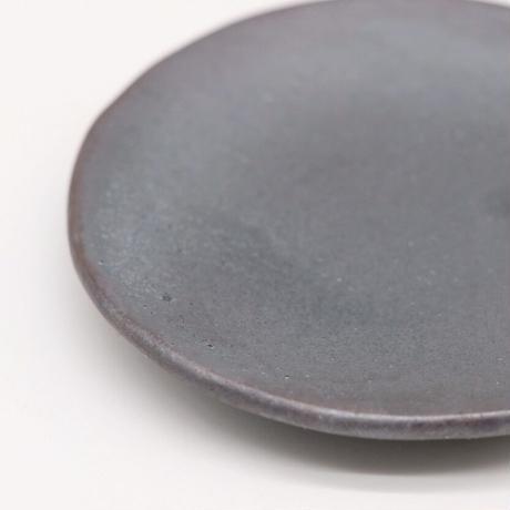 比地岡 陽子 / 銀彩釉豆皿(実物写真593)