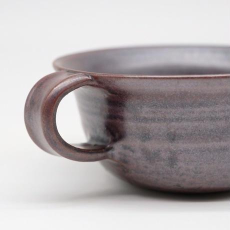 比地岡 陽子 / 銀彩釉スープカップ (実物写真586)