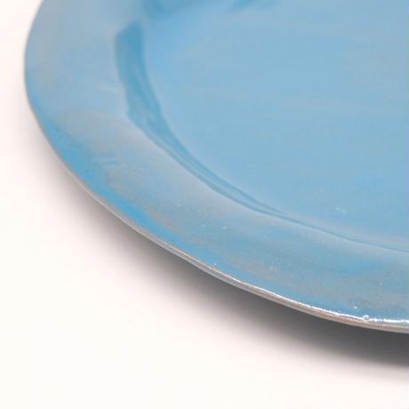teto ceramic / リムプレート・大・モロッコブルー (実物写真430)