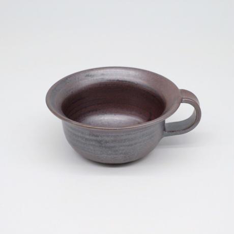 比地岡 陽子 / 銀彩釉スープカップ (実物写真627)