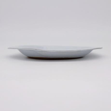 teto ceramics / オーバルプレート・白透明釉薬(実物写真831)