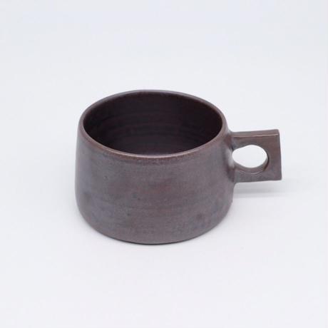 比地岡 陽子 / 銀彩釉 角手マグカップ(実物写真167)