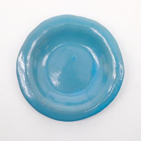 teto ceramic / リムプレート・小・モロッコブルー(実物写真918)
