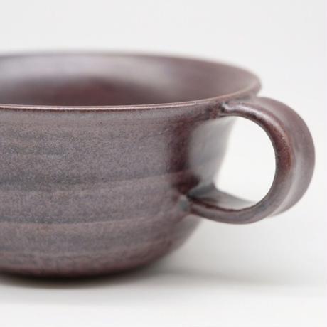比地岡 陽子 / 銀彩釉スープカップ (実物写真582)