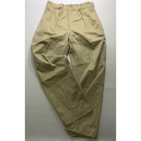 DEADSTOCK 50's~60's FRENCH ARMY CHINO  TROUSERS  M-52(SIZE:35)