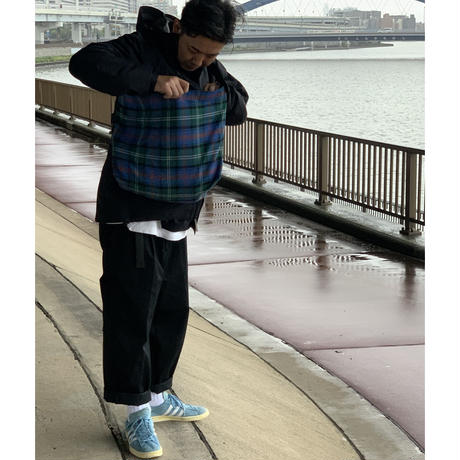 STUMP STAMP × FAKIE STANCE TARTAN CHECK LARGE SACOCHE(BLUE)