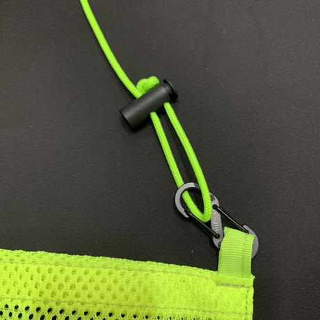 STUMP STAMP PASS POUCH (MESH) NEON YELLOW
