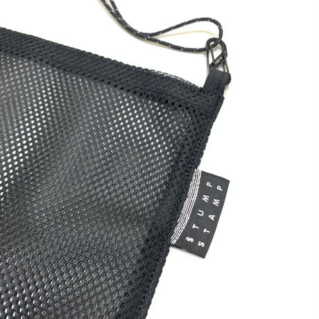 STUMP STAMP PASS POUCH (MESH) BLACK