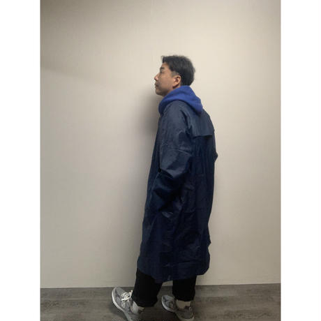 DEAD STOCK FRENCH ARMY  LONG RAIN COAT (NAVY)