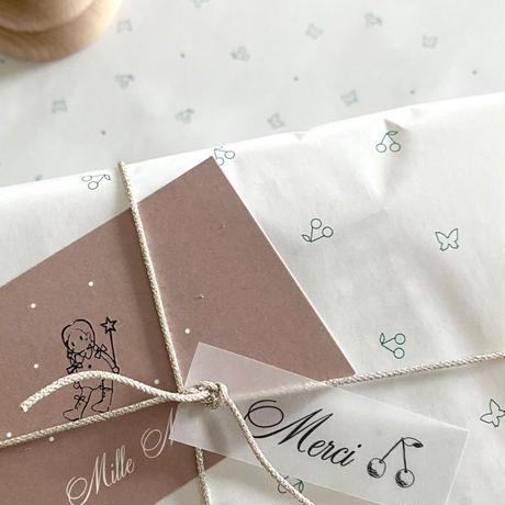 【クリックポスト】 10枚 ★ wrapping paper A3   petit cerise&papillon