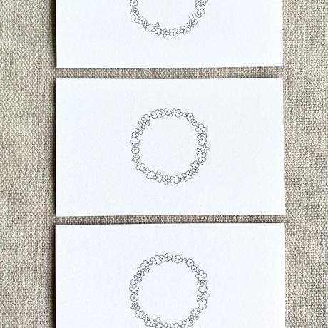 M-108 messagecard ★ couronne de fleur 25枚