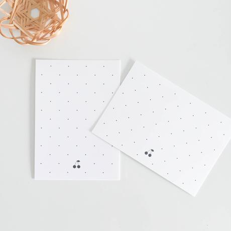 台紙 ★ Carte cerise à pois 30枚/縦型/横型