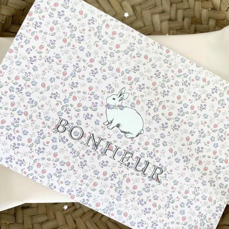 ポストカード ♡ Bonjour monpetit lapin