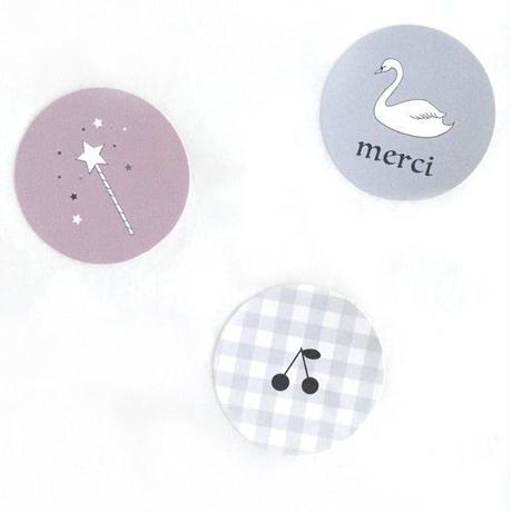 シール ★ swan/cerise/magicwand 3種 (計30枚入り)