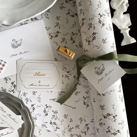 【ゆうパック】10枚 ★ wrapping paper A3  Promenade d'automne