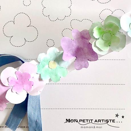 【 PDF 】Mon petit Coloriage   お花のかんむり☆