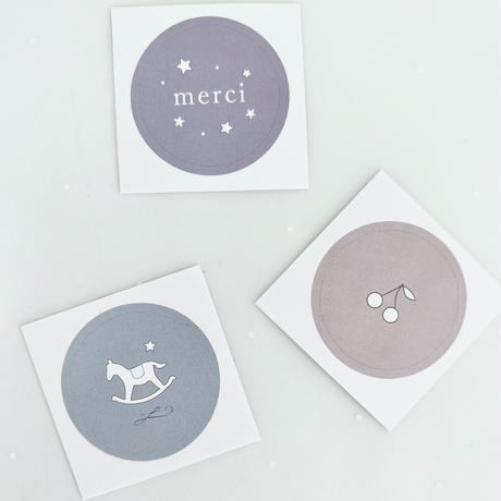 シール ★ Cerise/ Étoile/Cheval à bascule 3種 (計30枚入り)