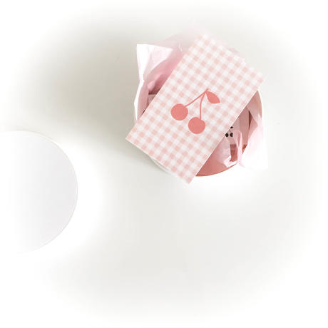 M-51 messagecard ★ cerise carreaux (rose) 30枚