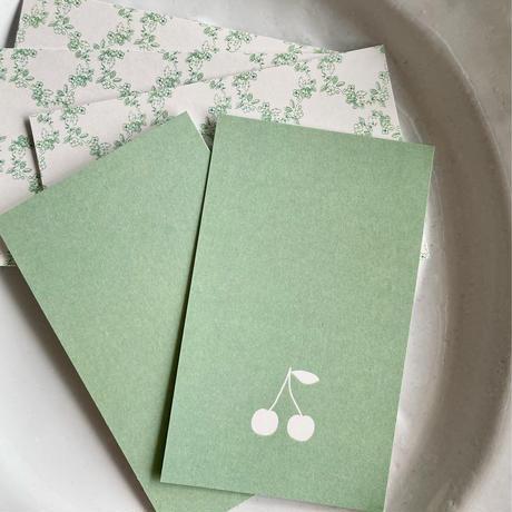 M-34 messagecard ★ cerise vert 25枚