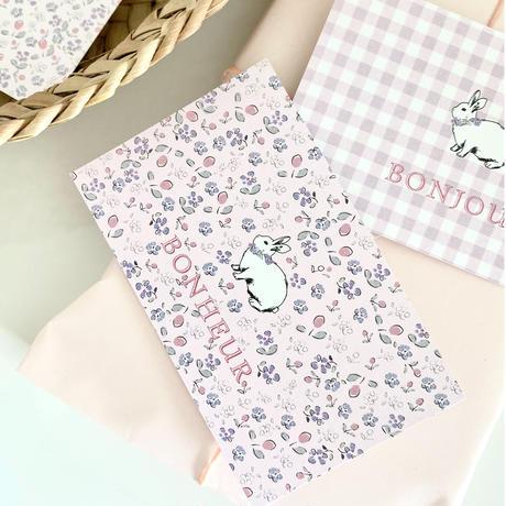 M-113-Bonjour mon petit lapin♡ fleurette/ carreaux 24枚