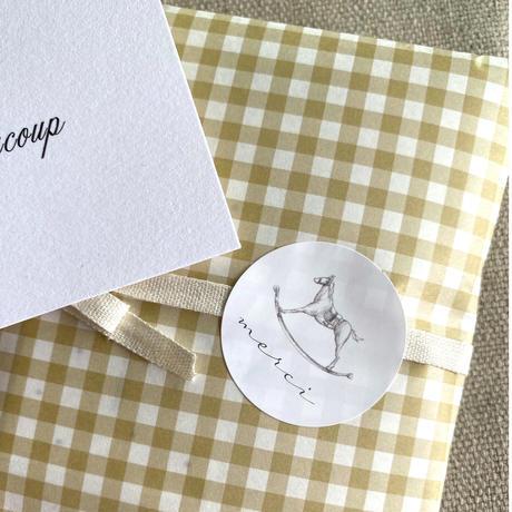 【ゆうパック】 100枚 ★ wrapping paper A3 carreaux moutarde ギンガムチェック マスタード