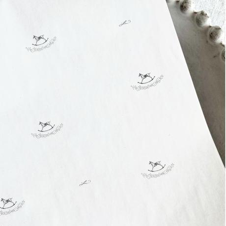 【ゆうパック】30枚 ★ wrapping paper A3  Cheval à bascule
