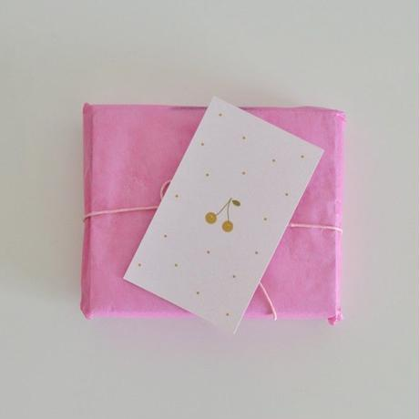 M-47  messagecard ★ Carte cerise à pois (rose) 30枚