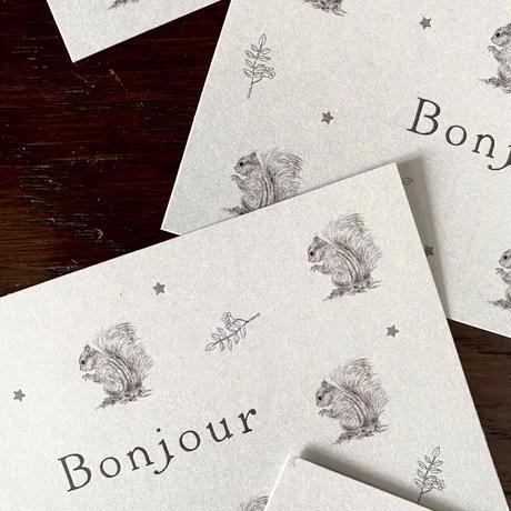 M-91 messagecard ★ écureuil Bonjour! 25枚