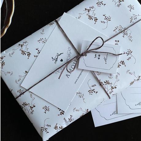 【クリックポスト】10枚 ★ wrapping paper A3  Promenade d'automne