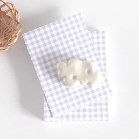 台紙 ★ Carte à carreaux gris 30枚/ ギンガムチェック グレー