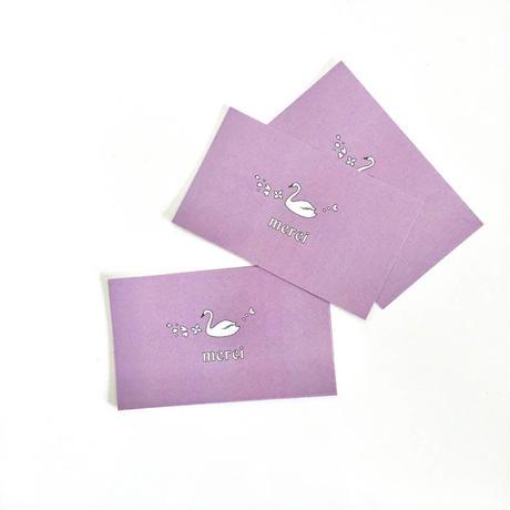 M-62  messagecard ★Swan Bleu Lavande 25枚
