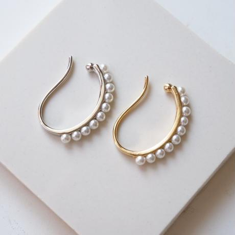 half pearl ring ear cuff