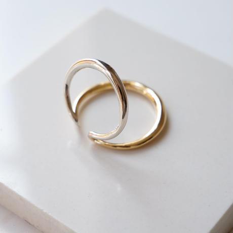 bicolor brass ear cuff
