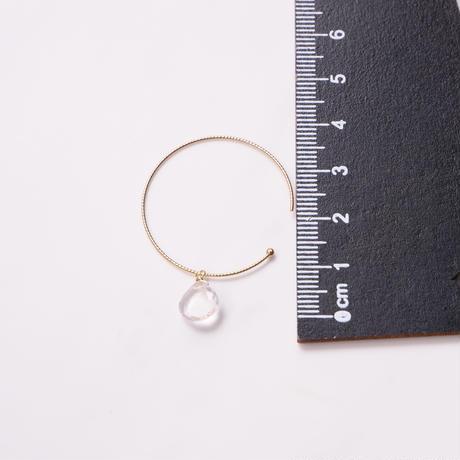 Rose quartz hoop P
