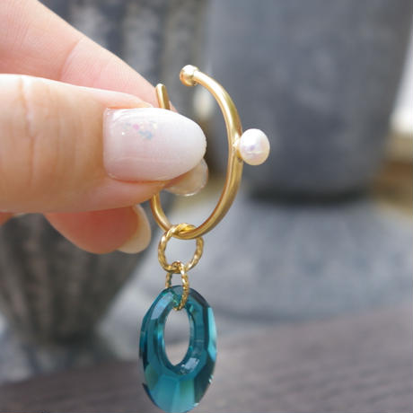outer pearl hoop cuff-5mm
