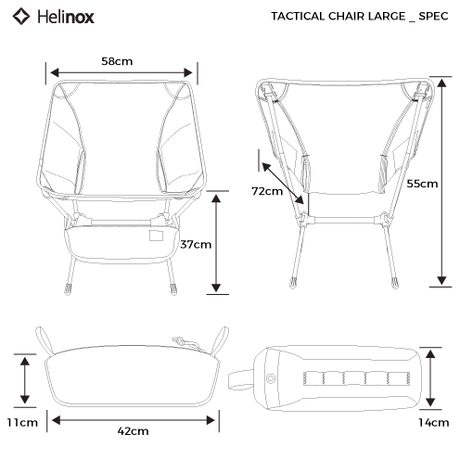 MONROxHELINOX   TACTICAL CHAIR LARGE with ROCKER     | STUMP