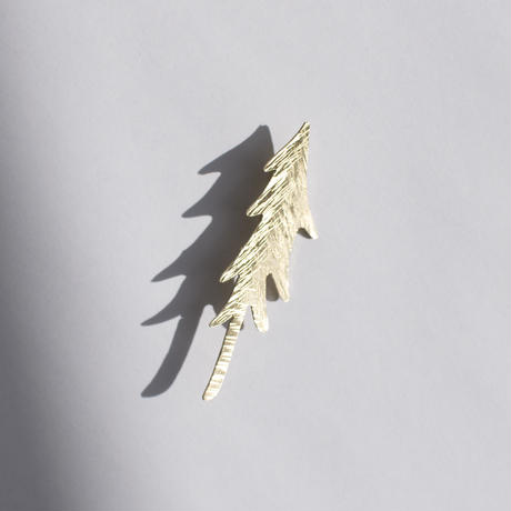 真鍮ブローチ「もりの木」