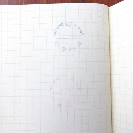 福わけはんこ 書き込める千鳥の日付印