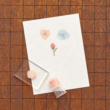 水縞|自在ハンコぬりえセット花