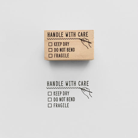 KNOOPWORKS |〈HANDLE WITH CARE〉スタンプ|取扱注意
