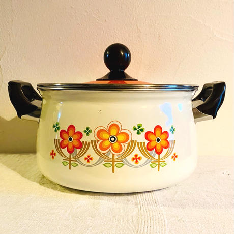 houti|MARUBISHI 可愛い花柄ホーロー鍋