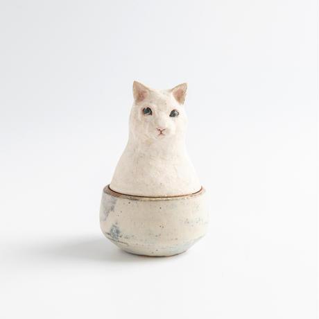 acne pottery studio 8ネコの頭の付いた花器