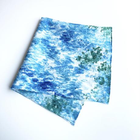 いとうりえこ|麻ハンカチ(水面)A
