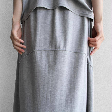 pssst,sir   trom_skirt (cotton) / moku gray